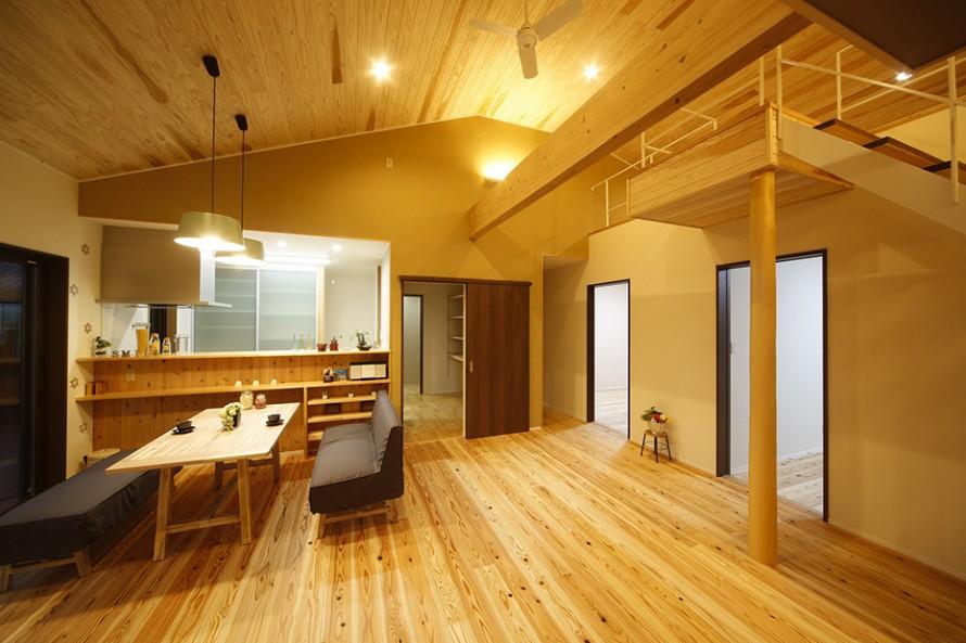 自然素材をふんだんに使った長期優良住宅1